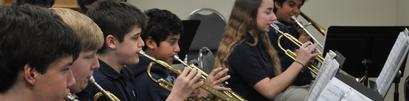 Middle School Band and Elementary Music Classes.